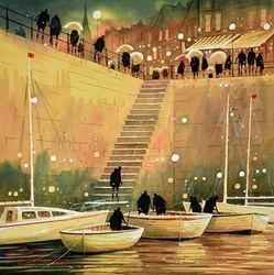 Harbour Lights III by Peter J Rodgers -  sized 20x20 inches. Available from Whitewall Galleries